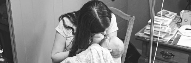 Samantha holding Millie