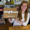 Aishleen O'Brian holding Nightingale Express Box