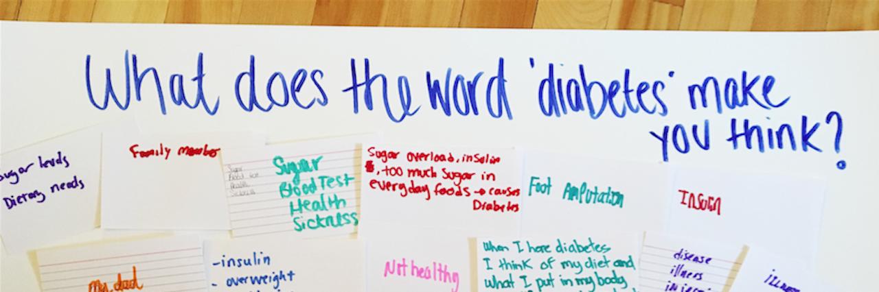 poster with words describing diabetes