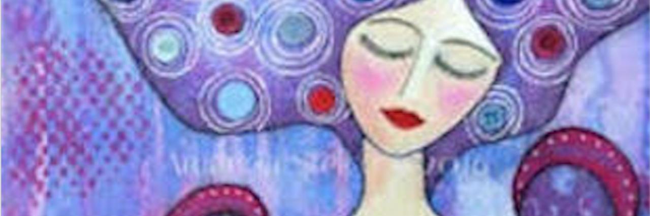 amanda's mixed media artwork