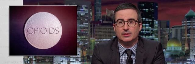 john oliver talking about opioids