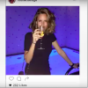 Instagram picture of a woman drinking a glass of wine