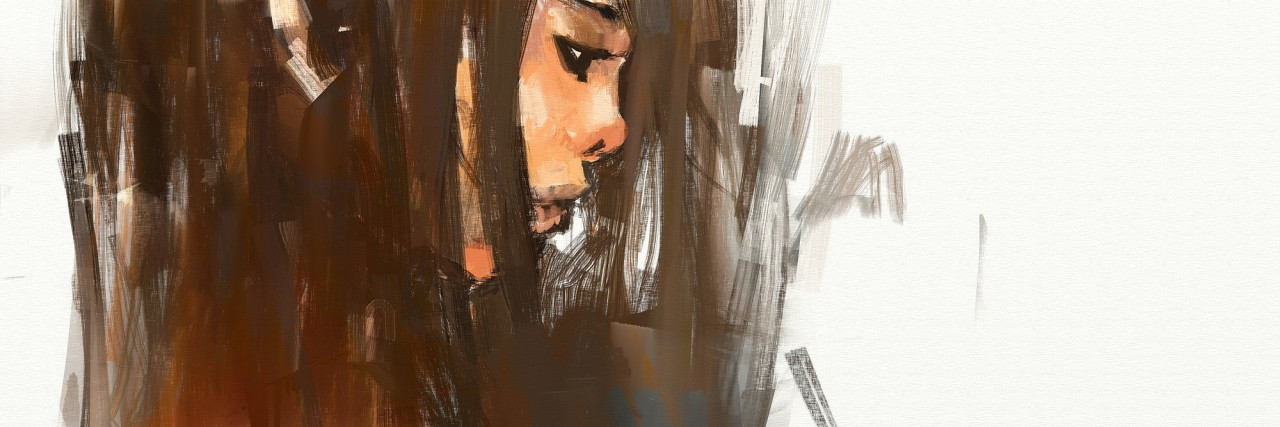 digital painting portrait of beautiful girl