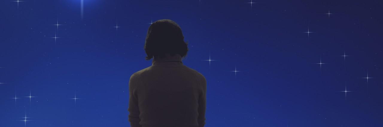 Girl watching the stars.