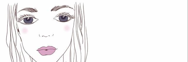 sketch of girl's eyes