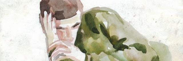 watercolor of a young man