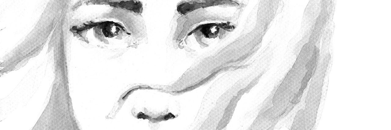 illustration of a girl who looks sad