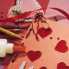 Crafting homemade Valentine's Day greeting cards