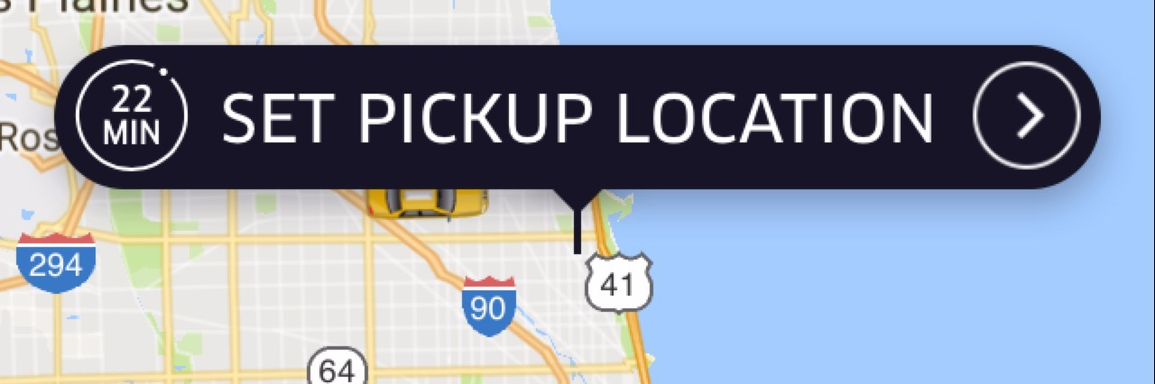 Screenshot of Uber App