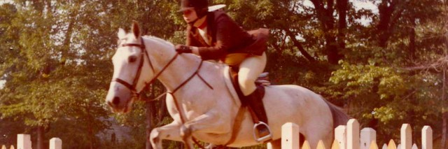 Anita age 17 on Saraha the horse jumping over fence