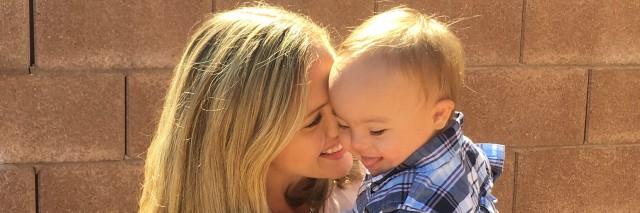 Jillian and her son.