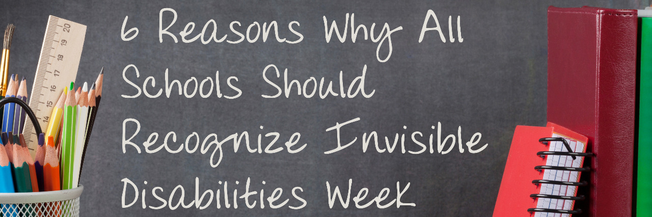 Invisible Disabilities Week chalkboard.