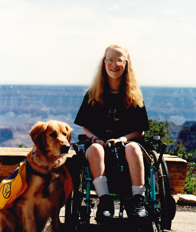 Karin at the Grand Canyon, age 14.