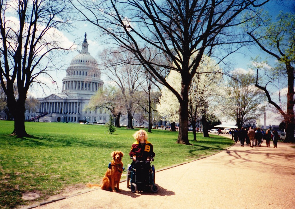 Karin in Washington, DC at age 17.