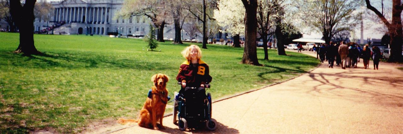 Karin in Washington, D.C. at age 17.