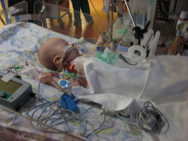 Michelle's daughter in the ICU