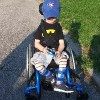 Jennifer's son in his wheelchair