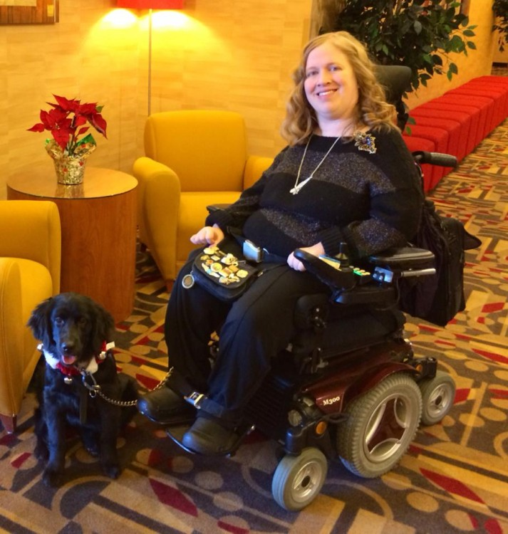 Karin and Aria at a hotel in Denver, CO in Dec. 2013.