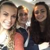 selfie of three sisters in the car