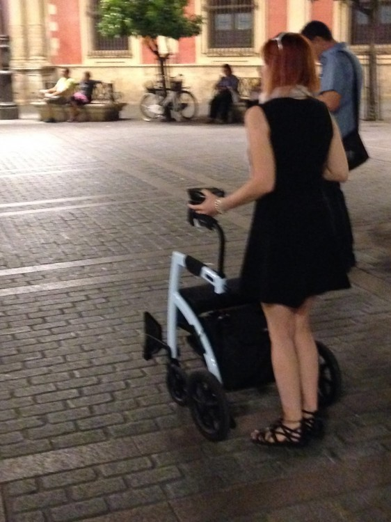 Ardra with her rollator, 'Optimus Prime.'