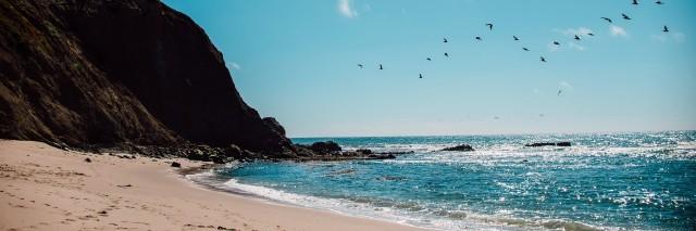 sunny day at beach