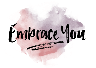text that says embrace you against colorful background