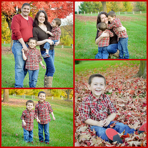 collage of family photos taken in the fall