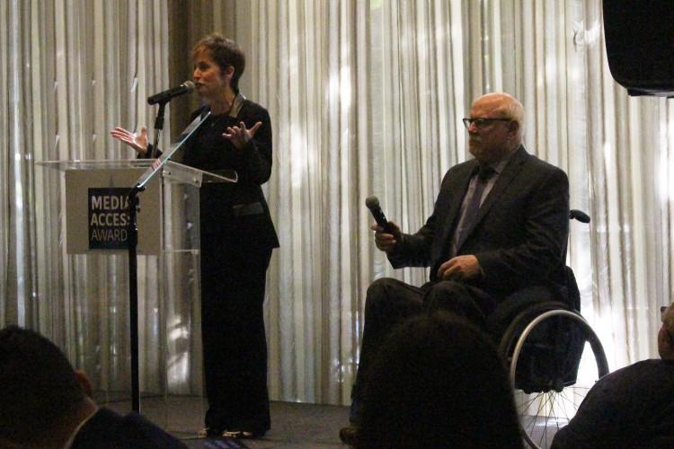 Media Access Awards Chairs Deborah Calla and Allen Rucker (Photo Credit: Lauren Appelbaum)