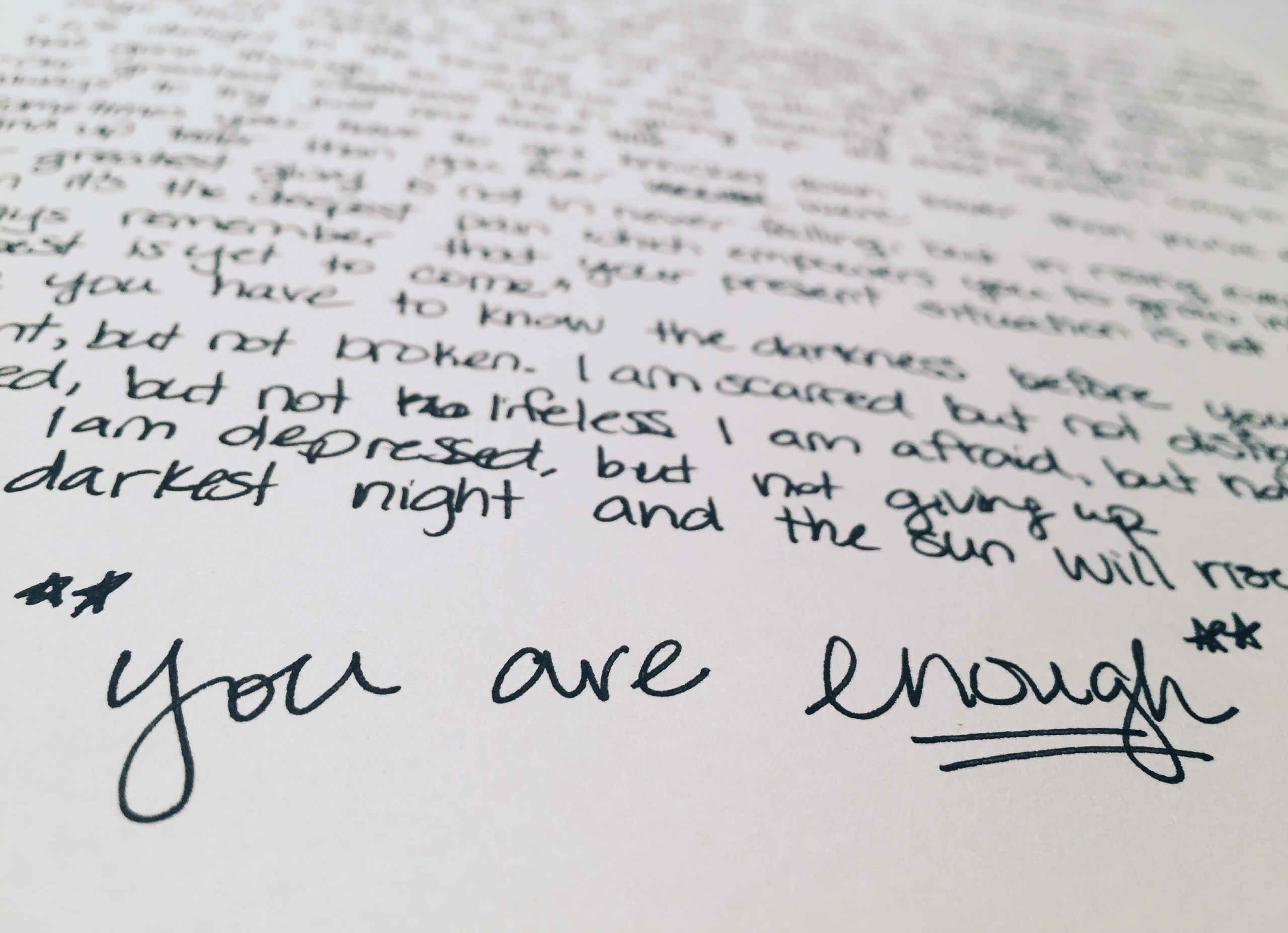 paper that says you are enough