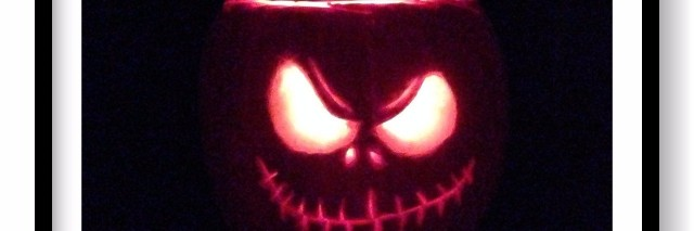 pumpkin carved like jack skellington