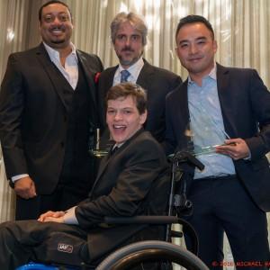 Speechless' Cedric Yarbrough, Scott Silveri, Melvin Mar and Micah Fowler (Photo Credit: Michael Hansel)