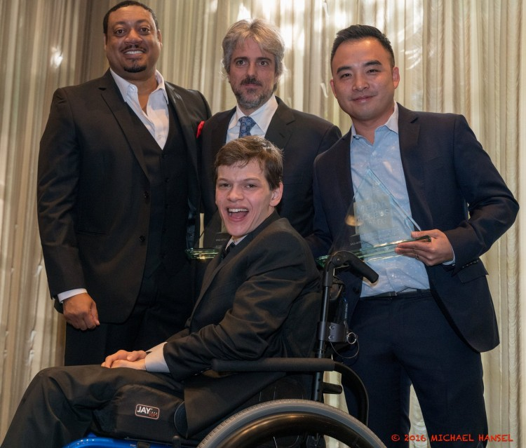 Speechless' Cedric Yarbrough, Scott Silveri, Melvin Mar and Micah Fowler (Photo Credit: Michael Hansel)