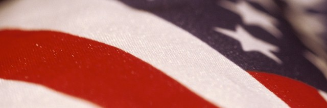 close up of a portion of the american flag