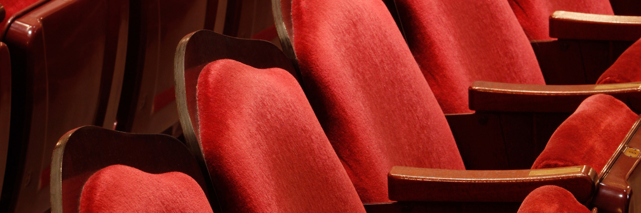 Red theater seats.