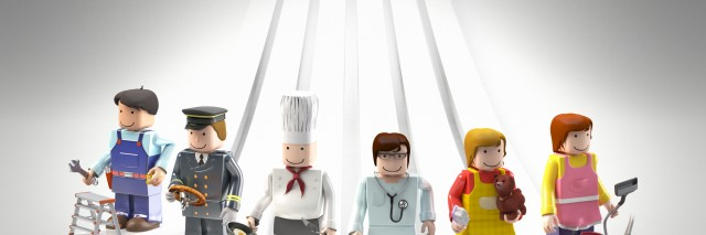 Diversity occupations people as legos