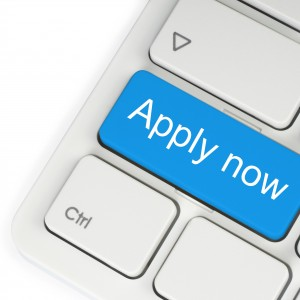 Blue apply now button.
