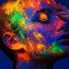 Woman with Neon Makeup powder