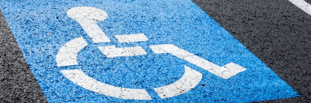 Disability parking spot.
