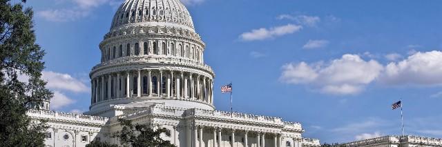 United States Capital building in Washington DC.