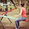 woman on a see-saw