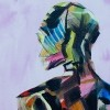 Painting of mannequin,robotic style models interacting