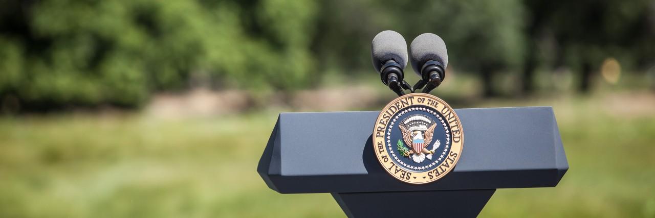 Presidential seal.