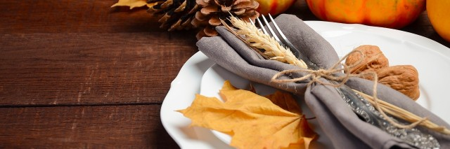 fall themed table setting