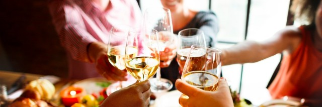 people cheers to celebrate thanksgiving holiday
