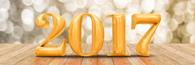 2017 new year gold number in gold room