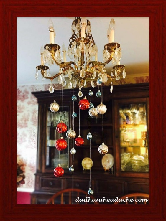 chandelier ornaments hanging down