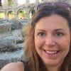 woman standing in front of the amphitheater iin pula croatia
