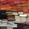 colorful stacks of books