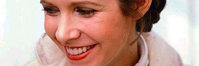 An older picture of Carrie Fisher in Star Wars