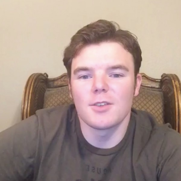 Screenshot of Conor Bryan during Facebook live video